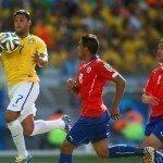 Brazil narrowly survived Chile