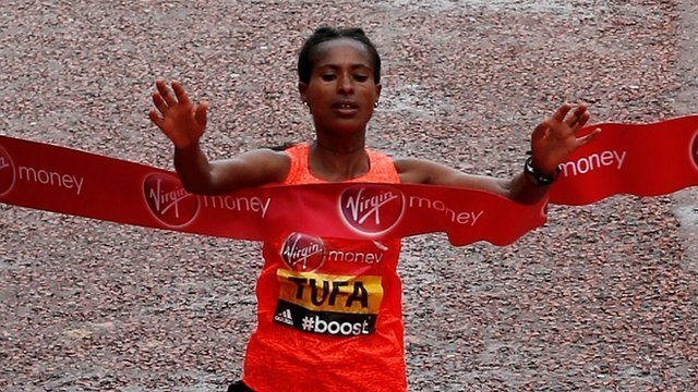Tigist Tufa won London Marathon