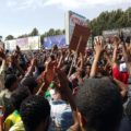 Protest in Addis Ababa, Image Source : Feisal on twitter