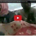 Migrants singing mezmur on board a migrant boat on Mediterranean sea
