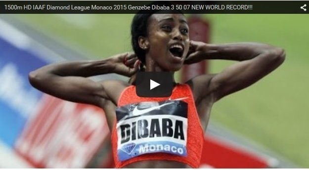 Genzebe Dibaba broke world 1500m women record at Monaco Diamond League