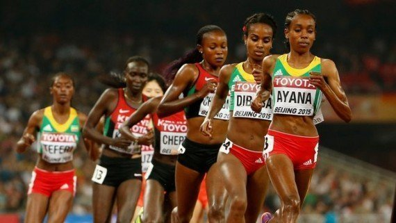 Almaz Ayana, gold. And Clean sweep for Ethiopia at the IAAF World Championship Beijing2015 in Women's 5000m Final