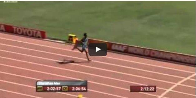 Ghirmay Ghebreslassie of Eritrea won Beijing2015 Marathon