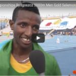 Selemon Barega  Photo : Screenshot from IAAF official video on YouTube