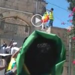 Protesters removed TPLF gov.t flag and replaced it with Ethiopia's historic flag in Jerusalem