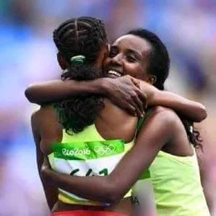 Almaz  Ayana and Tirunesh Dibaba in Pictures at Rio2016