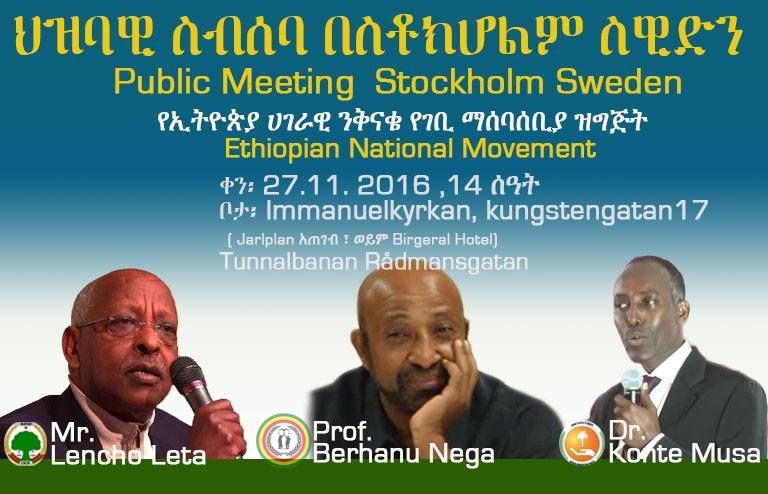 Ethiopian National Movement event in Sweden