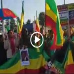 Ethiopians protested in Geneva, Eritreans stood in solidarity