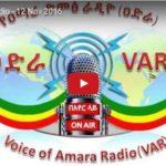 VAR – Voice of Amhara Radio November 21 edition