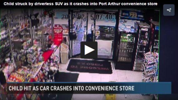 Driverless SUV crashes into Port Arthur convenience store
