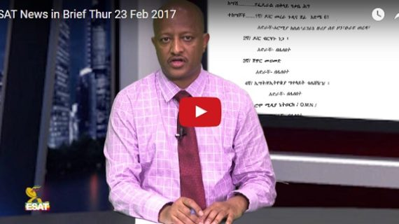 ESAT News in Brief : Opposition figure Merera Gudina charged