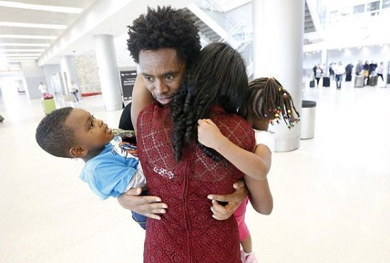Olympic silver medalist Feyisa Lilesa reunited with his family