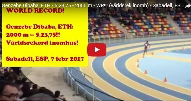 Video : Genzebe Dibaba new world record at Sabadell