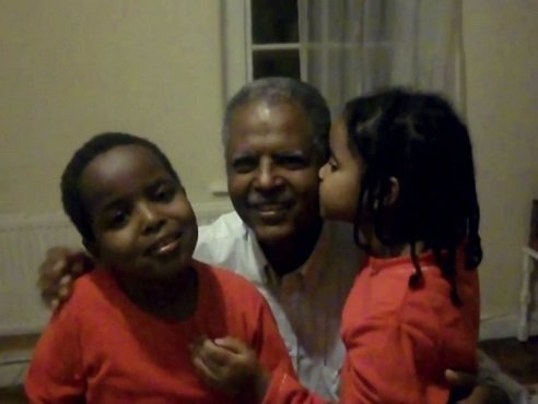 Andy Tsege with his Children / Ethiopia News / Source -Sky News