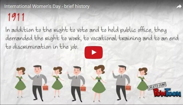 Short History of International Women's Day : March 8