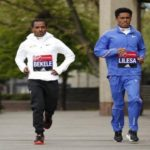 Feyisa Lilesa and Kenenisa Bekele - London Marathon 2017 - preparation - Photo - AFP