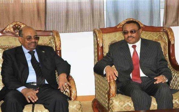 Omar Hassan al-Bashir visiting Ethiopia