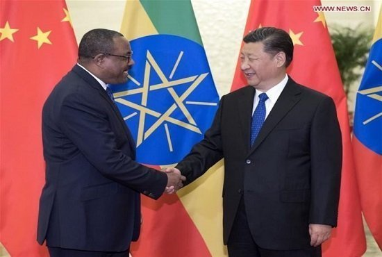 Hailemariam and Xi Jinping - China - Ethiopia