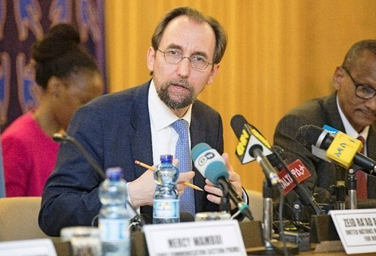 Zeid Ra'ad Al Hussein - the UN high commissioner for human rights - Ethiopia