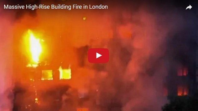 [Video] Fire in London blazed a 24 story building