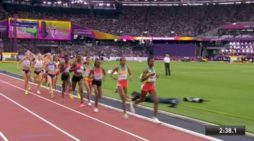 Almaz Ayana got silver medal in 5000 meters for Ethiopia