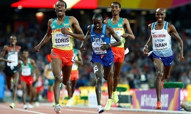 Muktar Edris beats Mo Farah in men`s 5000 meters World Championship