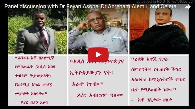 Must listen panel discussion on the notion of `Oromia special right over Addis Ababa`
