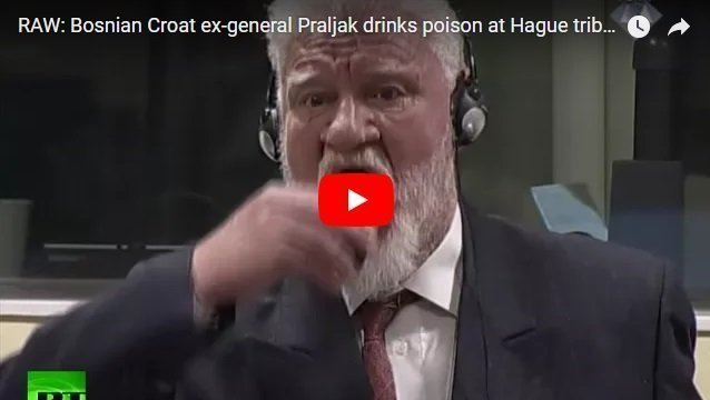 Bosnian Croat former military General Slobodan Praljak committed suicide in the court room at the Hague