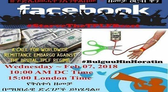 Remittance embargo campaign against Ethiopian regime