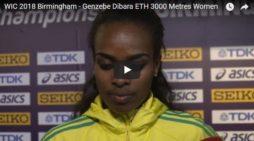 Genzebe Diababa won indoor championships in Birmingham 2018