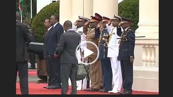 Prime minister Abiy Ahmed discussed trade and diplomatic matters with Uhuru Kenyatta