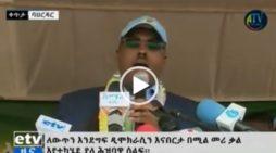 Demeke Mekonen at Bahir Dar rally in support of Abiy Ahmed